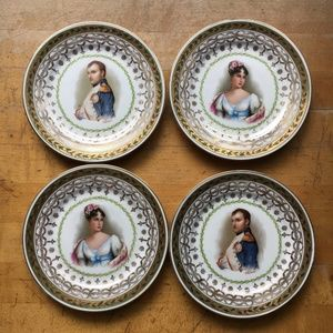 Napolean Bonaparte and Mary Louise Dessert Plates